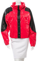 Alexander Wang Leather-Trimmed Oversize Jacket
