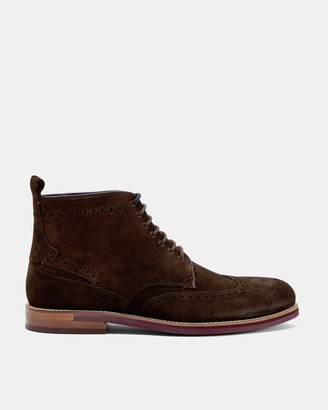 Ted Baker Brogue Suede Ankle Boots