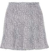 MICHAEL Michael Kors Printed Silk-Crepe Mini Skirt