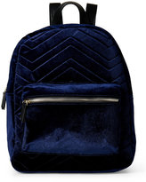 Imoshion Navy Chevron Quilted Velour Mini Backpack