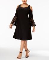 Thumbnail for your product : R & M Richards Plus Size Cold-Shoulder Dress