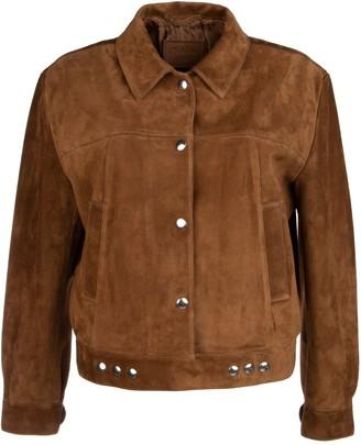 Prada Suede Buttoned Jacket