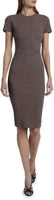 Victoria Beckham Short-Sleeve Fitted Sheath Dress