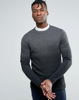 Selected Sweater in Ombre in Wool