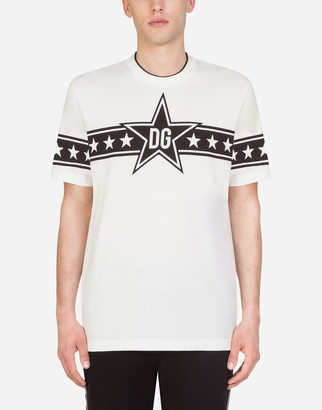 Dolce & Gabbana Cotton T-Shirt With Small Stars Print