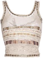 Etro Ivory Crochet Knit Tank