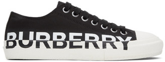 Burberry Black and White Larkhall M Logo Sneakers