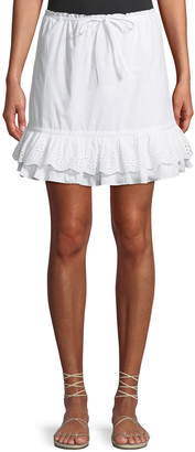Lovers + Friends Jenna Eyelet Flounce Short Skirt