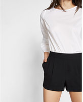 Express mid rise soft pleated shorts