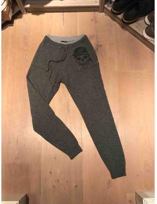 Philipp Plein Grey Cashmere Trousers for Women