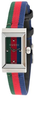 Gucci Striped Analog Watch