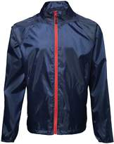 2786 Mens Contrast Lightweight Windcheater Shower Proof Jacket (2XL)