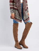 Charlotte Russe Faux Suede Combo Over-The-Knee Boots