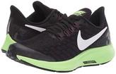 Nike Air Zoom Pegasus 35 (Little Kid/Big Kid) (Black/White/Burgundy/Ash/Lime Blast) Boys Shoes