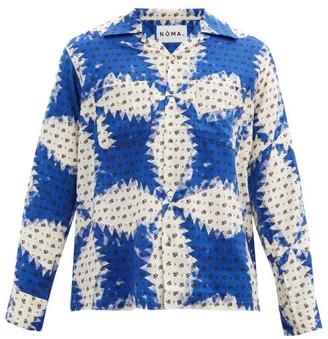 Noma t.d. Floral-print Twill Shirt - Blue