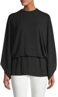 Valentino Long-Sleeve Silk Top