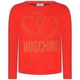 Moschino MoschinoGirls Red Studded Logo Top
