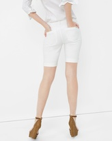 White House Black Market White Bermuda Jean Shorts