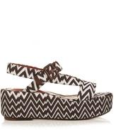 Missoni Zigzag-knit flatform sandals