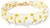 Venessa Arizaga Women's Smile Away Imitation Pearl Choker