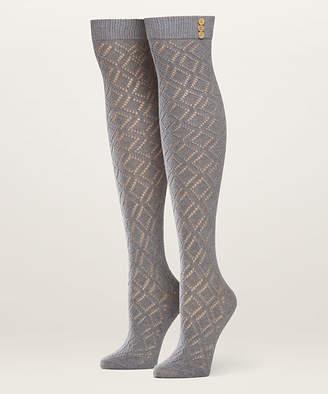 Pact Women's Socks Heather - Heather Gray Pointelle Organic Cotton Over-the-Knee Socks - Women