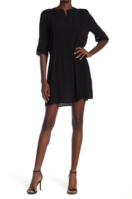 Collective Concepts Pintuck 3/4 Sleeve Shirt Dress