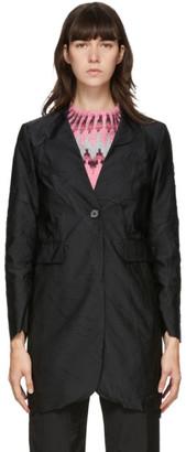 MM6 MAISON MARGIELA Black Crushed Taffeta Coat
