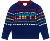 Gucci Children's intarsia wool cashmere sweater