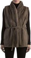 Gorski Mink Fur Vest with Suede Belt