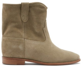 Isabel Marant Crisi Suede Ankle Boots - Womens - Beige