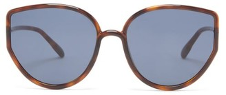 Christian Dior Sostellaire 4 Oversized Cat-eye Acetate Sunglasses - Tortoiseshell