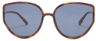 Christian Dior Sostellaire 4 Oversized Cat-eye Acetate Sunglasses - Tortoiseshell