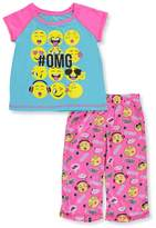 "Rene Rofe Little Girls' ""Emoji Moods"" 2-Piece Pajamas"