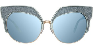 Matthew Williamson Mw181c1sun Blue Alu Lt Gold Blue Glitter Jade