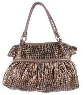 Fendi Leather-Trimmed Canvas Hobo