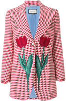 Gucci tulip triangle check blazer