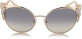 Roberto Cavalli Menkalinan 890S 28F Goldtone Metal Cat Eye Women's Sunglasses w/Crystals