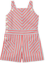 Polo Ralph Lauren Toddler Girls Striped Bow-Back Cotton Romper