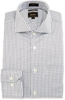 Neiman Marcus CoolMax® Square Trim-Fit Dress Shirt, Black