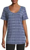 Allen Allen Short-Sleeve Plaid Tee