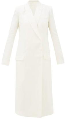 Haider Ackermann Double-breasted Linen-blend Coat - Ivory