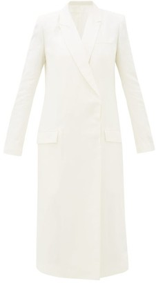 Haider Ackermann Double-breasted Linen-blend Coat - Womens - Ivory