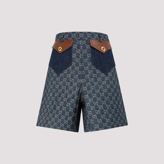 Gucci GG Jacquard Denim Shorts