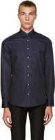 Tiger of Sweden Navy Pin-dot Shirt