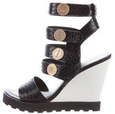 Kenzo Embossed Coin-Accented Wedge