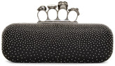 Alexander McQueen Black Studded Long Knuckle Box Clutch
