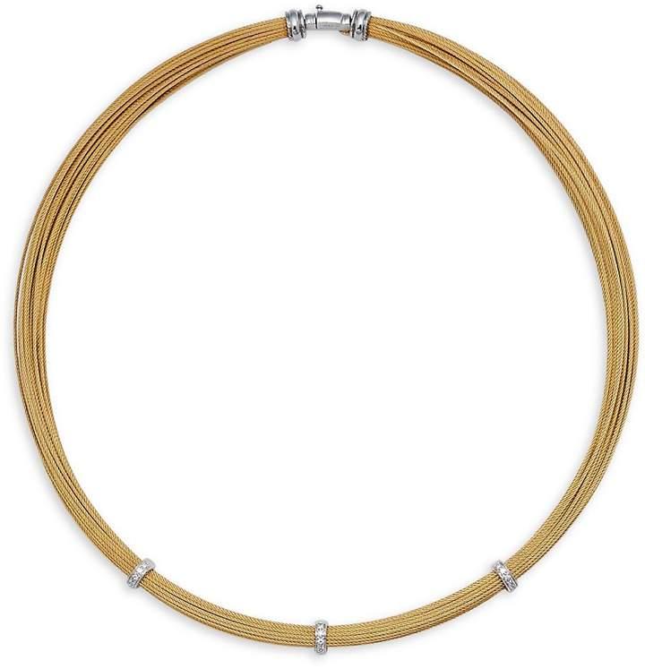 Alor Women's Diamond & 18K White Gold Necklace