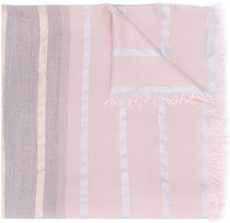 Fabiana Filippi Striped Knitted Scarf