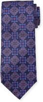 Neiman Marcus Italian-Made Medallion-Print Silk Tie