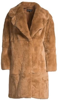 Adrienne Landau Rex Rabbit Fur Coat